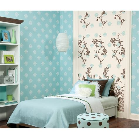 bedroom damask wallpaper jacobean damask wallpaper panel pink black stickers