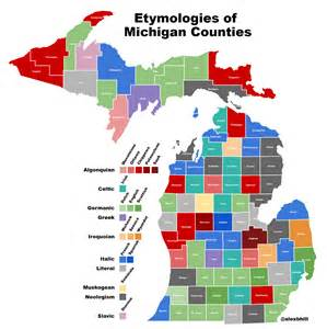 County Map Of Michigan by Map Of Michigan