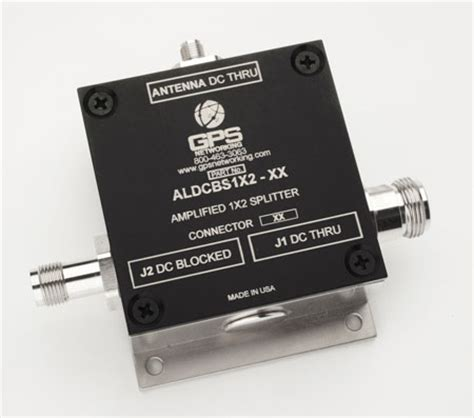 2 way gps active antenna splitter specify connector bnc n type sma or tnc pbx systems llc