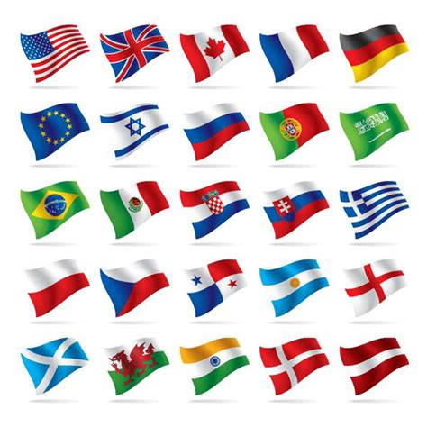 flags of the world waving 25 waving world national flags icons pack welovesolo