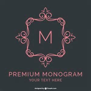 monogram template free premium monogram template vector free
