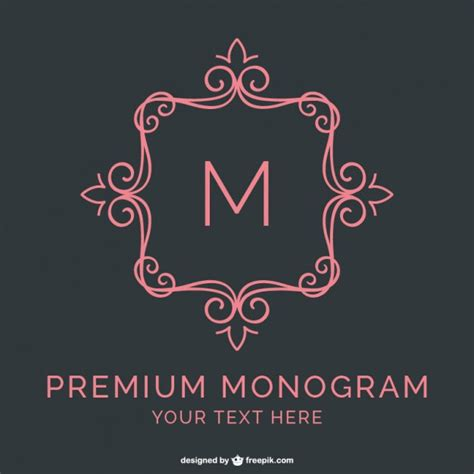 premium monogram template vector free download