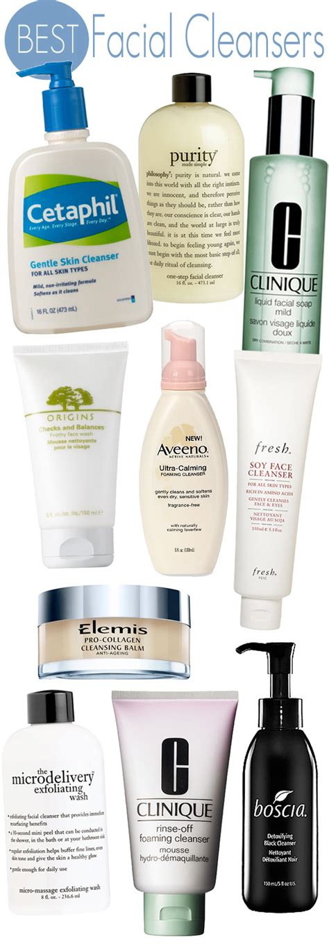 Top 10 Products For Skin by Top 10 Cleansers Beautiful Makeup Search