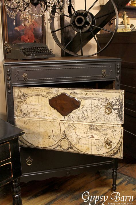 Diy Decoupage Dresser - hometalk repurposing dresser with decoupage map