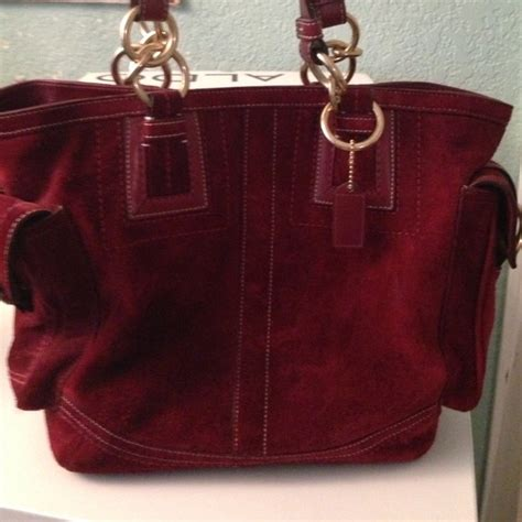 wine couch coach reduced price coach suede bag burgundy wine