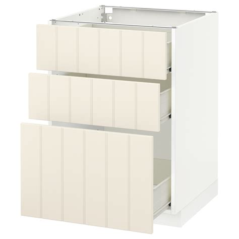 ikea kitchen cabinet construction metod f 214 rvara base cabinet with 3 drawers white hittarp