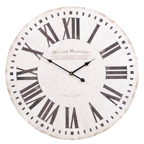 large shabby chic wall clock 60cm large wooden wall clock vintage retro