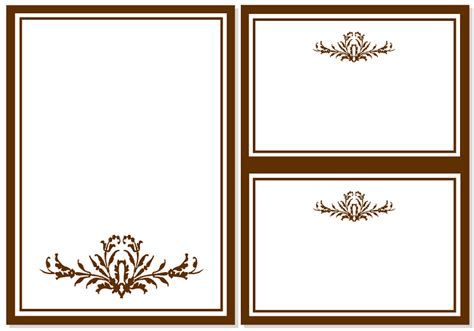 simple blank invitation cards template motive frame free printable nice ideas flower theme