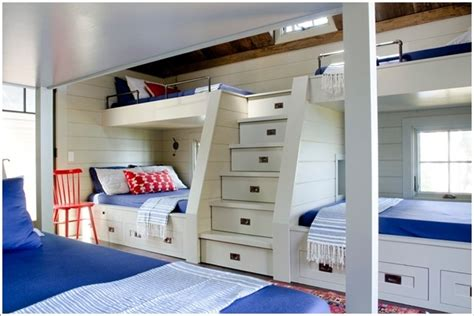 10 built in bunk bed rooms country home design ideas
