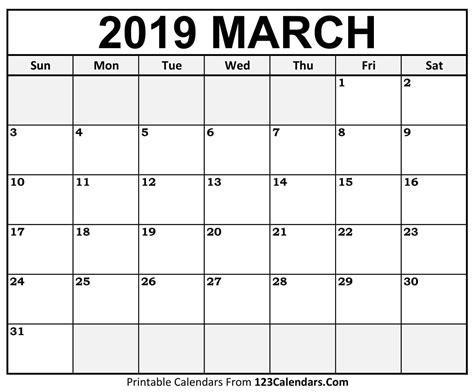 march 2019 calendar word march 2019 printable calendar 999 monthly calendar