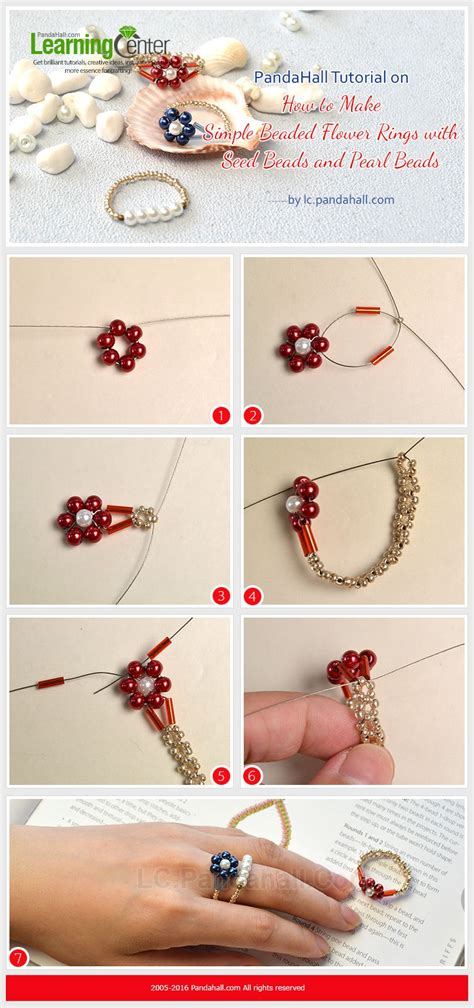 pandahall jewelry tutorial pandahall tutorial on how to make simple beaded flower