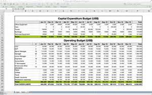 expenditure excel template capital expenditure budget template excel images