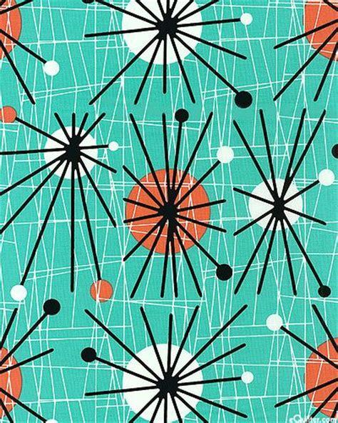 50s Design by Retro 1950s Starburst Pattern
