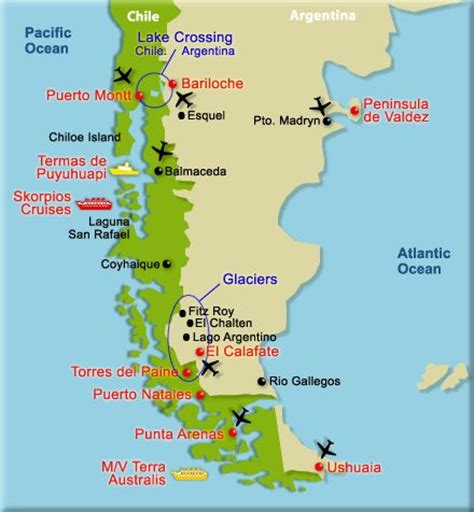 patagonia south america map patagonia map search patagonia chile