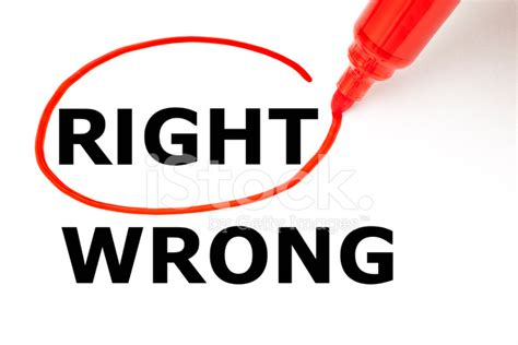 Type Of Trees by Right Or Wrong With Red Marker Stock Photos Freeimages Com
