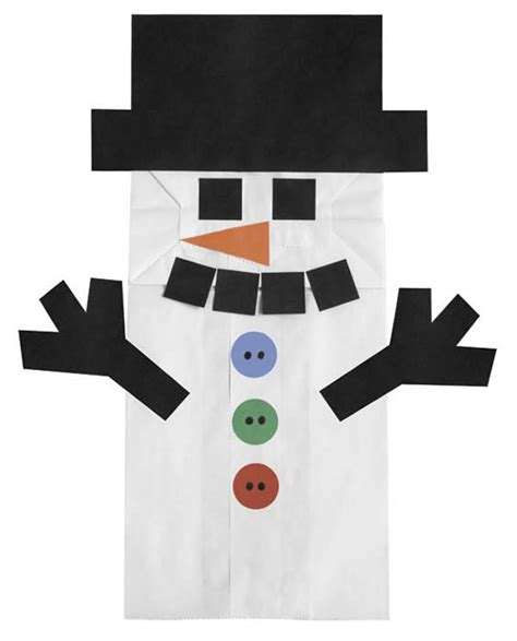 Paper Bag Snowman Craft - search results for snowman puppet paper bag calendar 2015