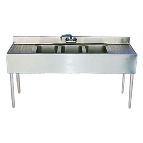 3 compartment sink with drainboards krowne 18 53c 60 in three compartment bar sink with