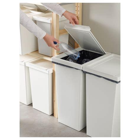 ikea storage bins filur bin with lid white 42 l ikea