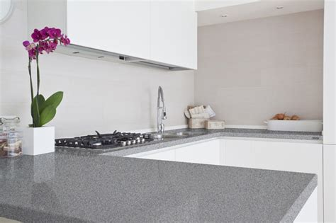 Cream Cabinet Kitchens by Grey Quartz Countertops For Kitchens Homesfeed