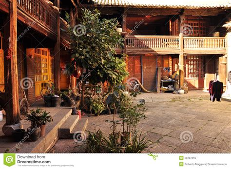 Chinese Home Chinese Traditional House Courtyard Stock Image Image