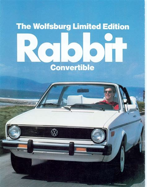 rabbit volkswagen convertible 1983 rabbit convertible wolfsburg edition brochure