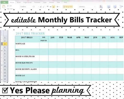 Utilities Spreadsheet Template 2018 Monthly Bill Tracker Home Utilities Bill Payment Log