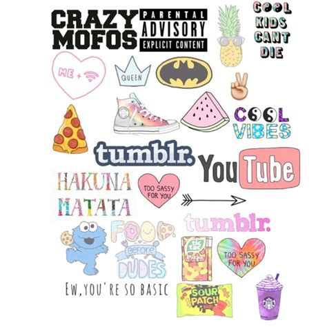 printable stickers tumblr cute tumblr stickers for collages google search art