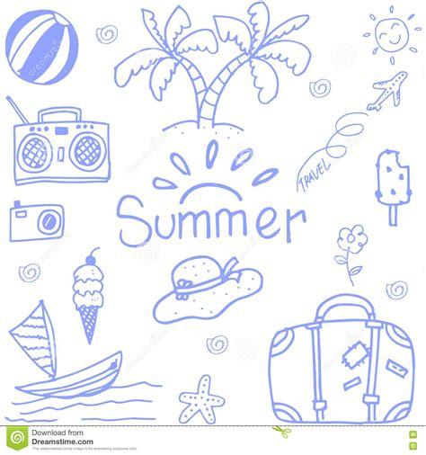 doodle summer happy travel doodle stock vector image 71699690