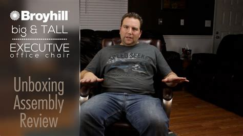 big and tall office desk chairs broyhill big tall executive office chair unboxing
