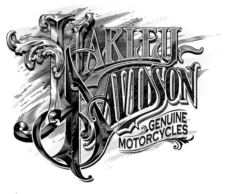 design font harley davidson harley davidson illustrations on behance typos
