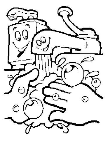 Cartoon Washing Hands Clipart Best Washing Coloring Page