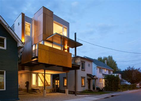 innovative homes innovative front to back infill house creates two separate