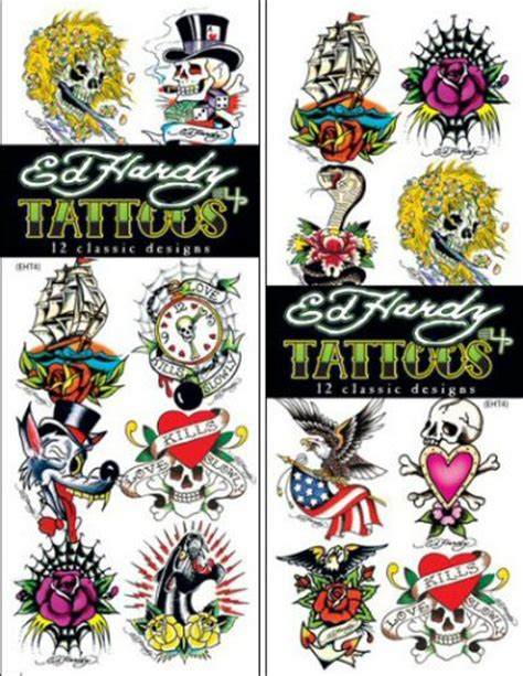 tattoos supplies buy ed hardy 4 temporary vending tattoos