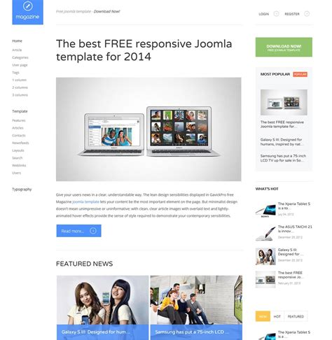 template joomla responsive blog best 10 free news magazine joomla templates 2015