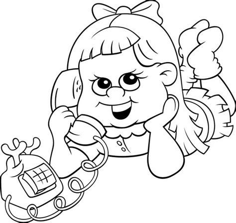 imagenes para colorear los medios de comunicacion chica al telefono dibujalia dibujos para colorear