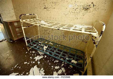 hmp dorchester prison prison cell bed dorset britain uk