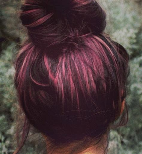 brown plum hair color plum coloured hair tumblr