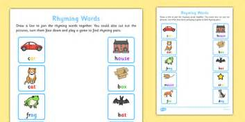 words that rhyme with home rhyming words home learning activity sheet eyfs early years