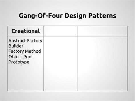 iterator pattern gang of four beyond design patterns phpnw14