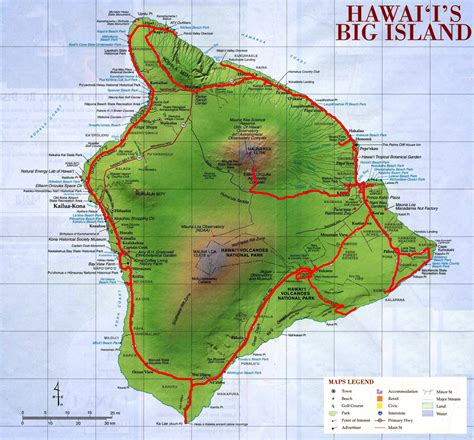 hawaii big island map hawaii big island