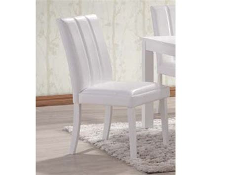 trogon 6 white dining chairs rubber wood faux leather tops