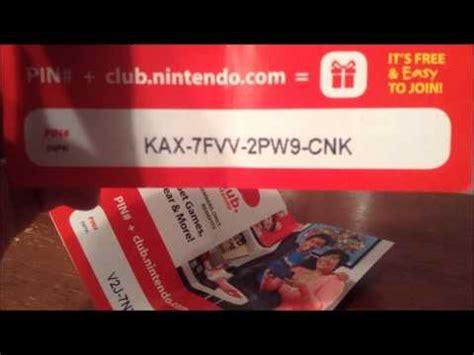 Club Nintendo Codes Giveaway - club nintendo code giveaway 2 youtube