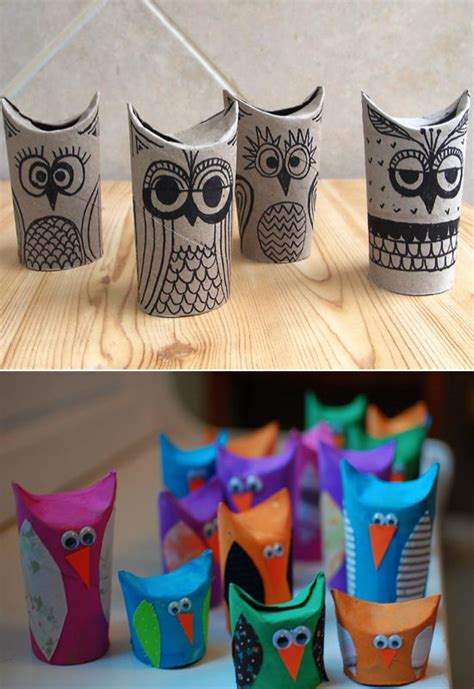 How To Make Owls Out Of Toilet Paper Rolls - 22 cool crafts you can make from toilet paper