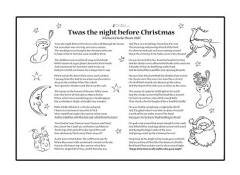 printable version of twas the night before christmas poem twas the night before christmas ichild