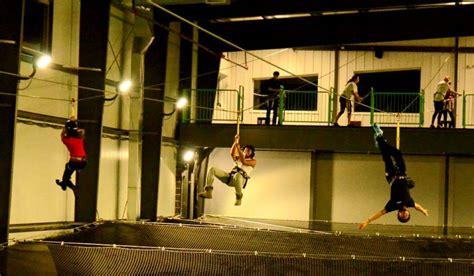 worlds  indoor zipline park opens  streetsboro