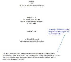 Report Writing Title Page by Technical Writing Abstracts Introductions Conclusions