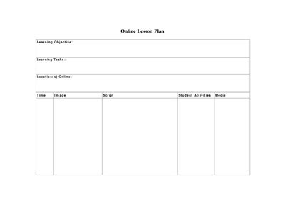 search results for designing a lesson plan template