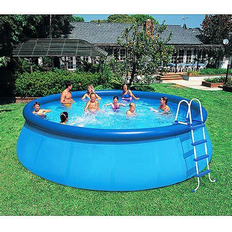 backyard swimming pools walmart intex 18 x 48 quot easy set above ground inflatable swimming pool walmart com