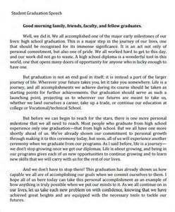 Graduation Speeches Sle sle graduation speech 5 documents in pdf