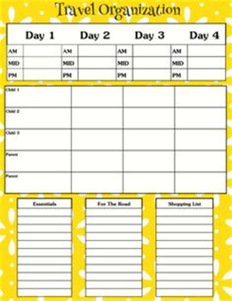 printable daily vacation planner 1000 images about vacation on pinterest trip planning